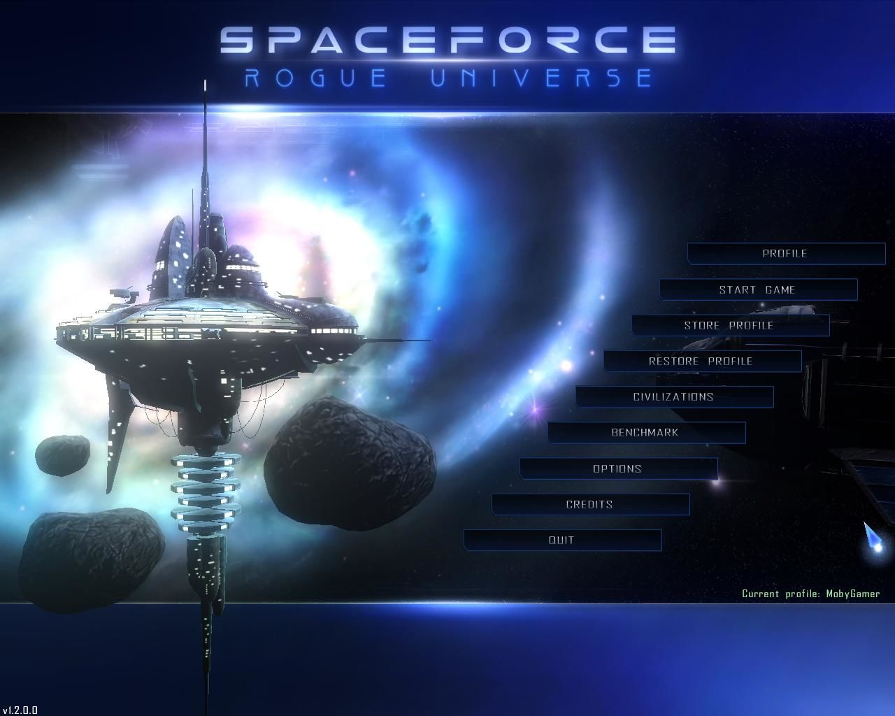 Spaceforce: Rogue Universe Windows Main Menu.