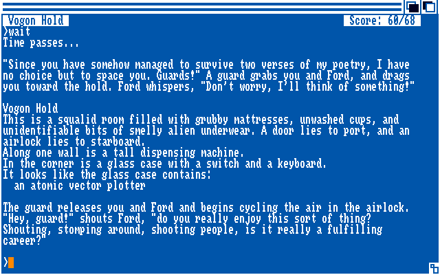The Hitchhiker's Guide to the Galaxy Amiga Survived the Vogon poetry