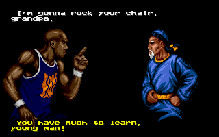 Shaq Fu Amiga This old guy doesn't look very tough...