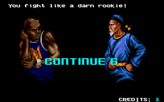 Shaq Fu Amiga You can continue a few times if you are defeated.