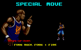 Shaq Fu Amiga Shaq's special move, the Shaq-uriken is revealed.
