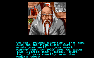 Shaq Fu Amiga The old man sends him on a quest.