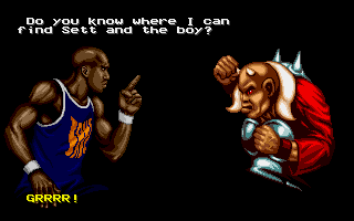 Shaq Fu Amiga This guys no help on the quest, he just wants to fight!