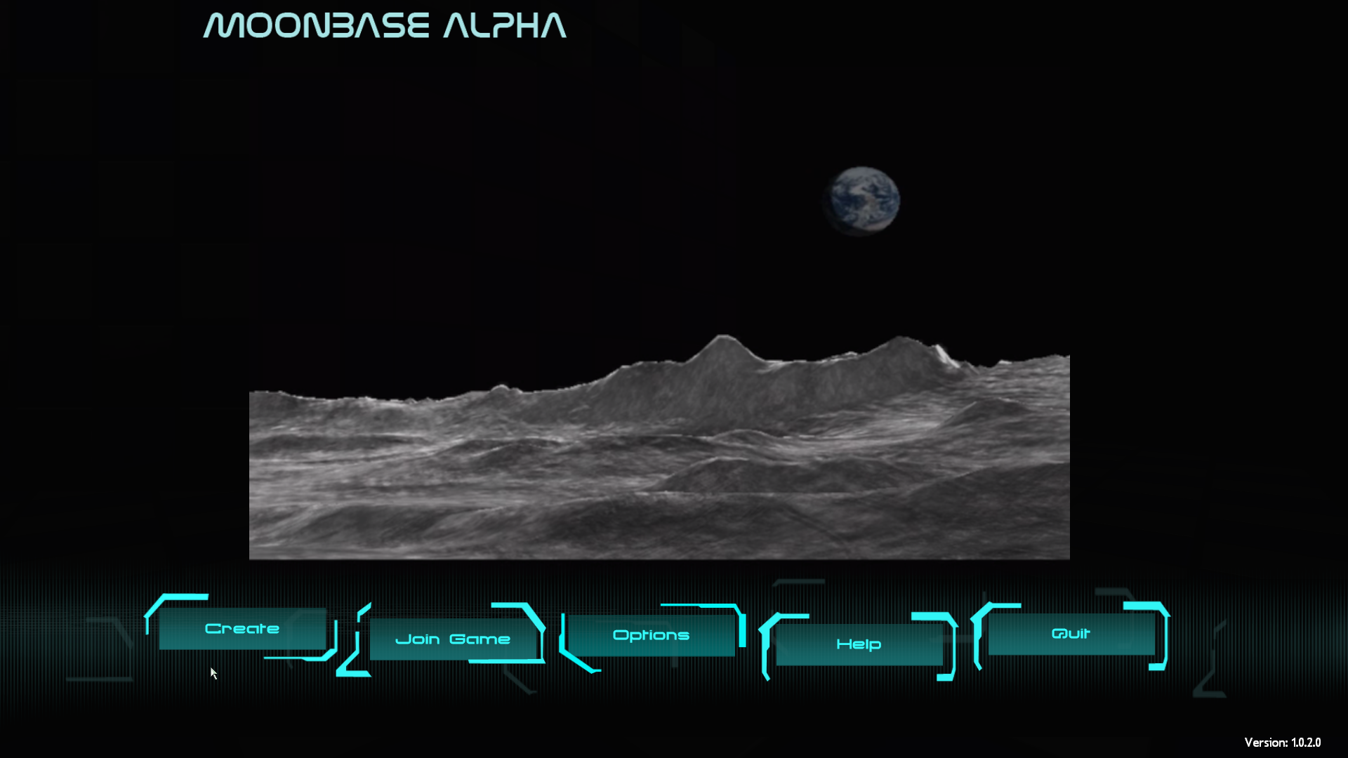 Moonbase Alpha Windows Main menu