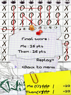 OXO: Tic Tac Toe Extreme Android The game ended in a tie