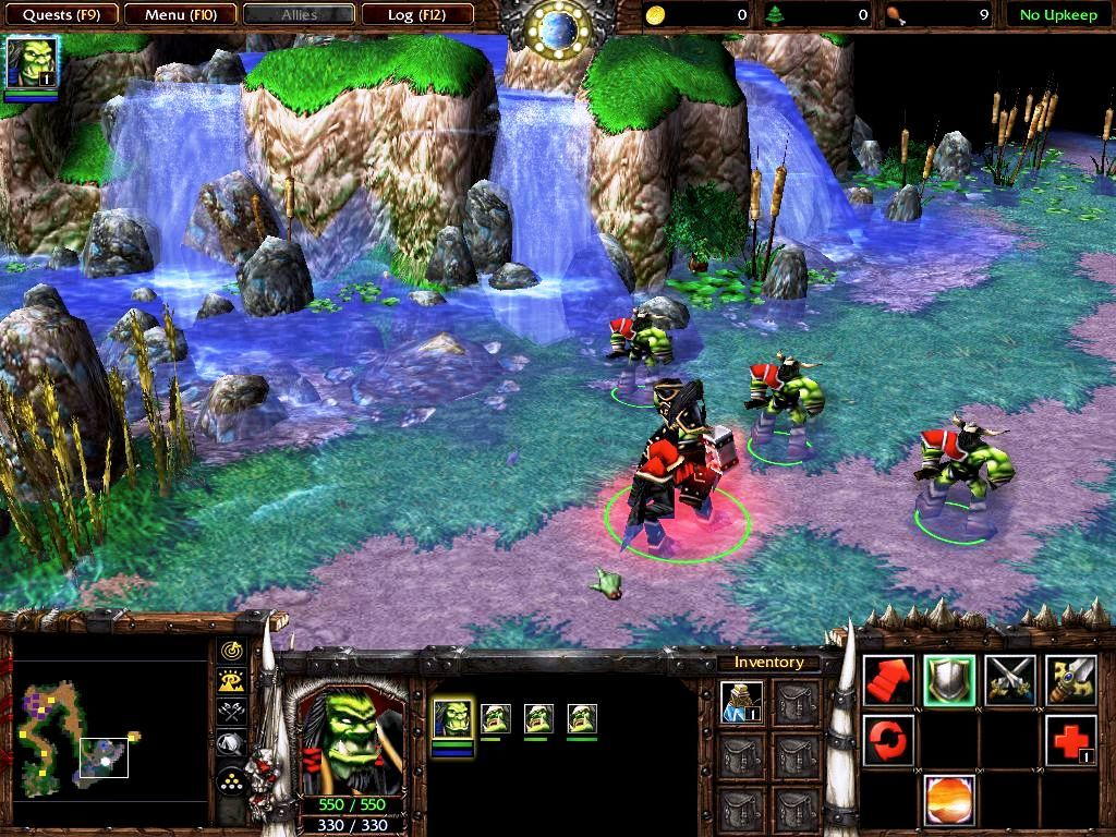 Warcraft III: Reign of Chaos Macintosh Scroll wheel changes camera angle
