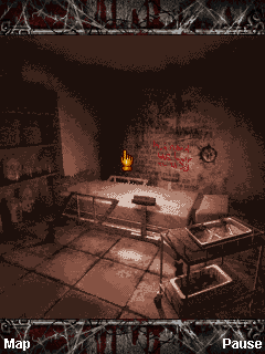 Silent Hill: Orphan J2ME A clue is written on the wall
