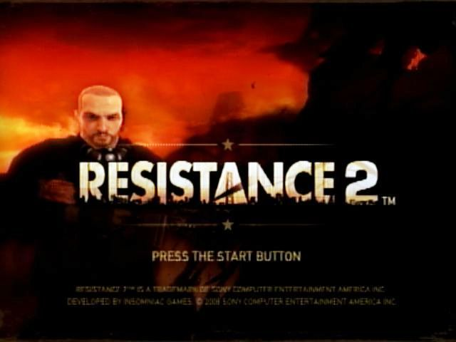 Resistance 2 PlayStation 3 Title