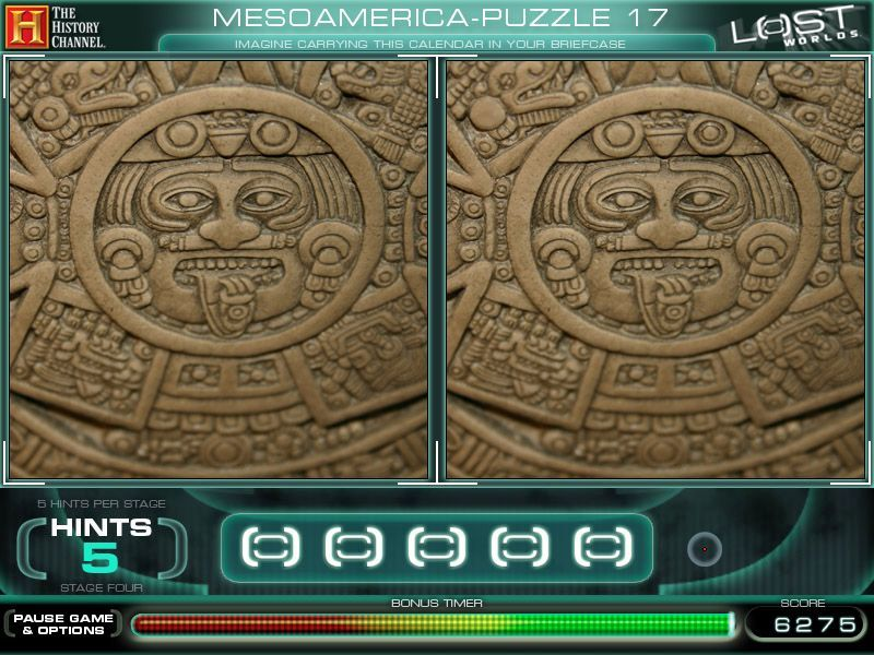 The History Channel: Lost Worlds Macintosh Mesoamerica Puzzle 17 - Differences