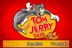 Tom and Jerry Tales Game Boy Advance Choose your language
