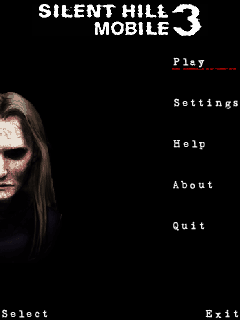 Silent Hill Mobile 3 J2ME Main menu