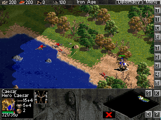 Age of Empires: Pocket PC Edition Windows Mobile Caesar vs the Pirates -  playing against