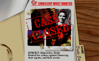 Quarantine DOS Game over, man! Omnicorp thugs offed you!