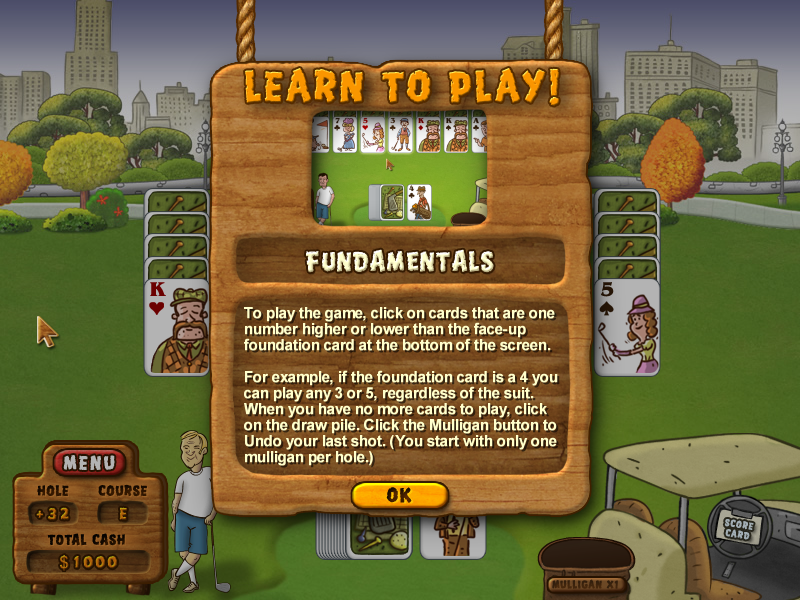 Fairway Solitaire Windows Instructions for the basics.