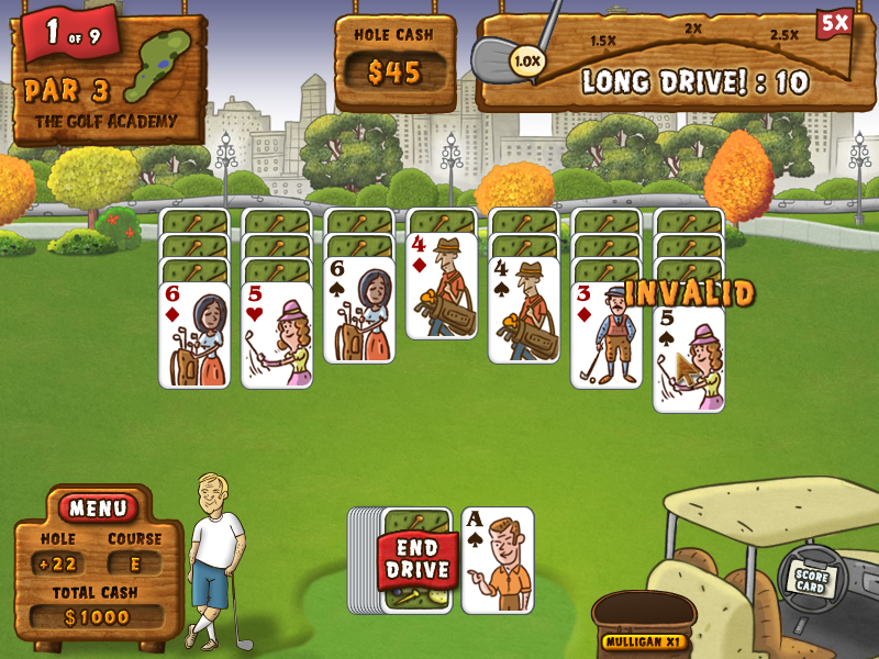 Fairway Solitaire Windows I made an invalid move.