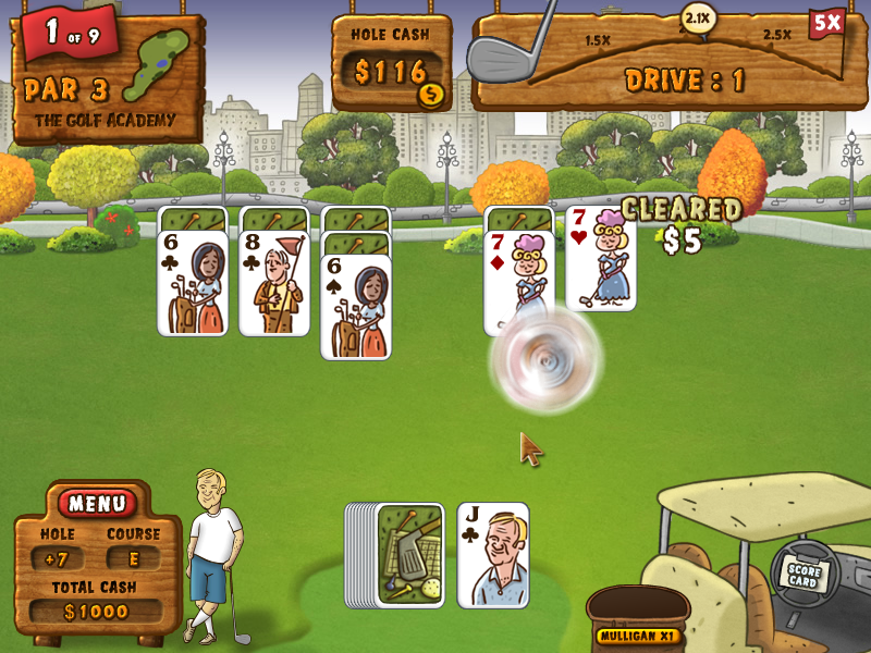 Fairway Solitaire Windows I made a proper move and cleared a card.