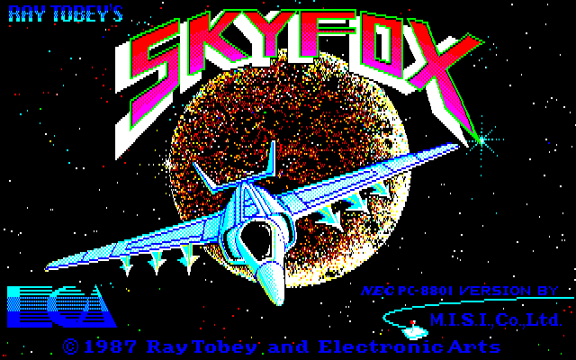 Skyfox PC-88 Title screen A