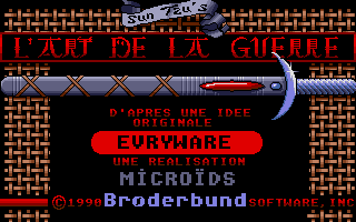 The Ancient Art of War Atari ST Title screen