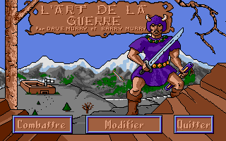 The Ancient Art of War Atari ST 2nd Title screen with main menu