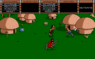 The Ancient Art of War Atari ST Defending the village