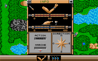 The Ancient Art of War Atari ST Settings for a group of soldiers