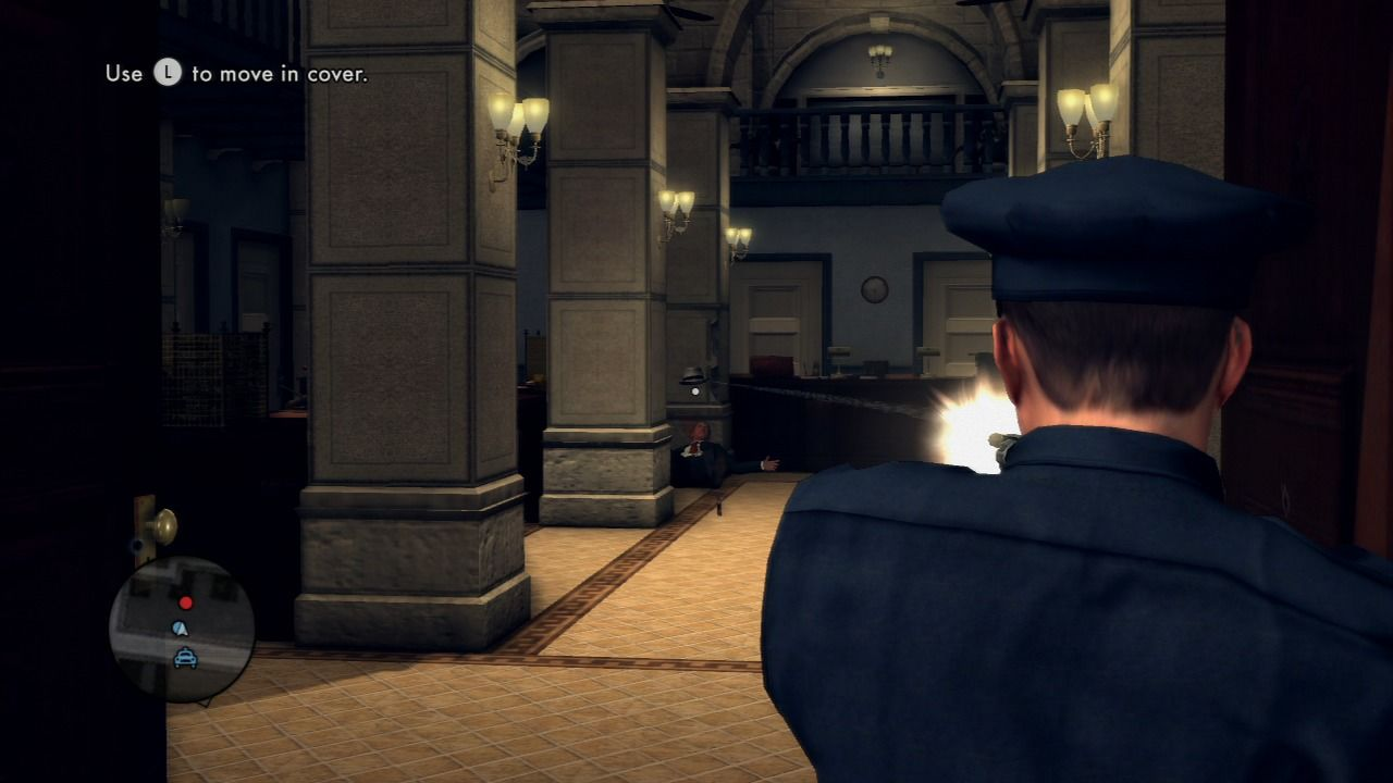 L.A. Noire PlayStation 3 Showdown with the bank robbers.