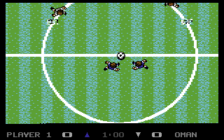 Keith Van Eron's Pro Soccer Commodore 64 Kick off (outdoor)