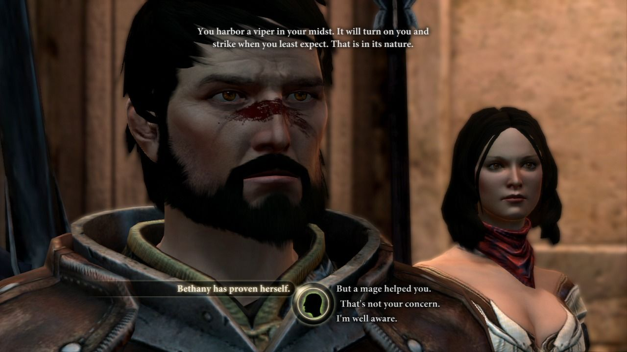 Dragon Age II PlayStation 3 Hawke stands by his family no matter the logic of dispute.