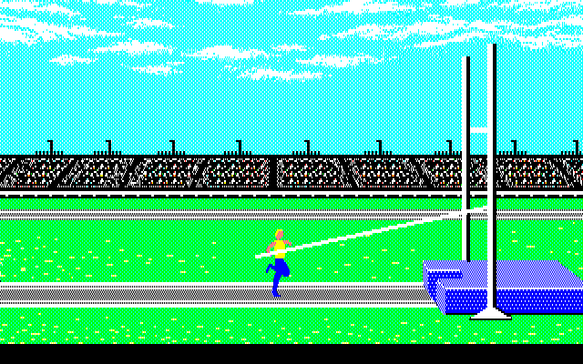 Summer Games PC-88 Pole jumping