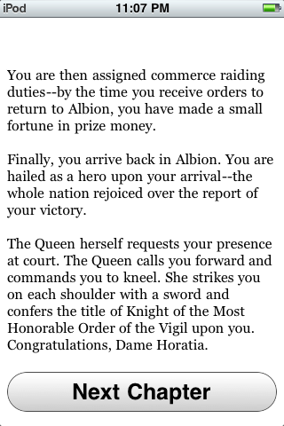 Choice of Broadsides iPhone The glories of victory