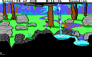 King's Quest III: To Heir is Human DOS Some pretty AGI countryside. (EGA/Tandy)