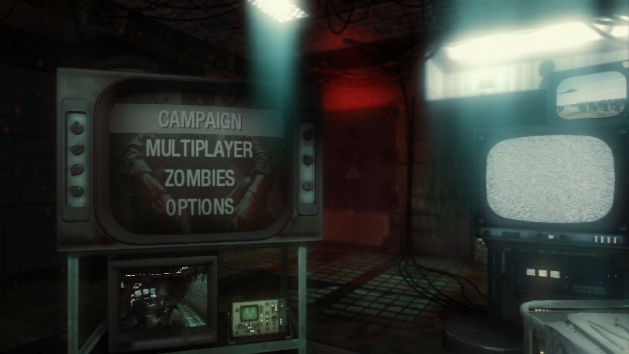 Call of Duty: Black Ops PlayStation 3 Main menu.