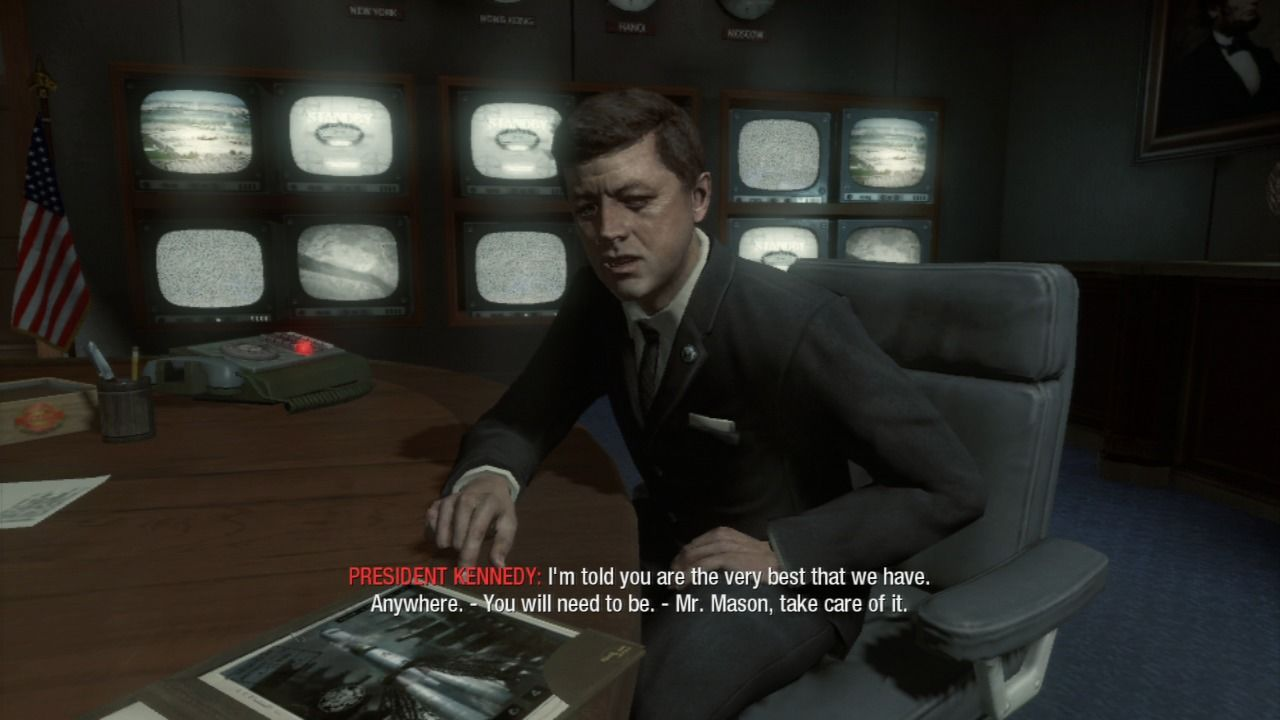 Call of Duty: Black Ops PlayStation 3 Meeting president Kennedy.