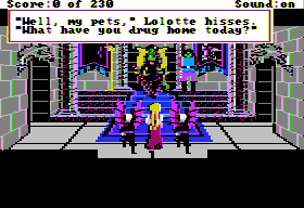 King's Quest IV: The Perils of Rosella Apple II The evil villain, She's mean and she's green.