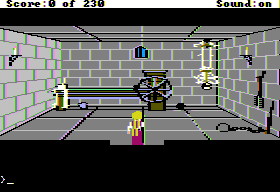 King's Quest IV: The Perils of Rosella Apple II You know... A few curtains, and this place might not be so bad after all...