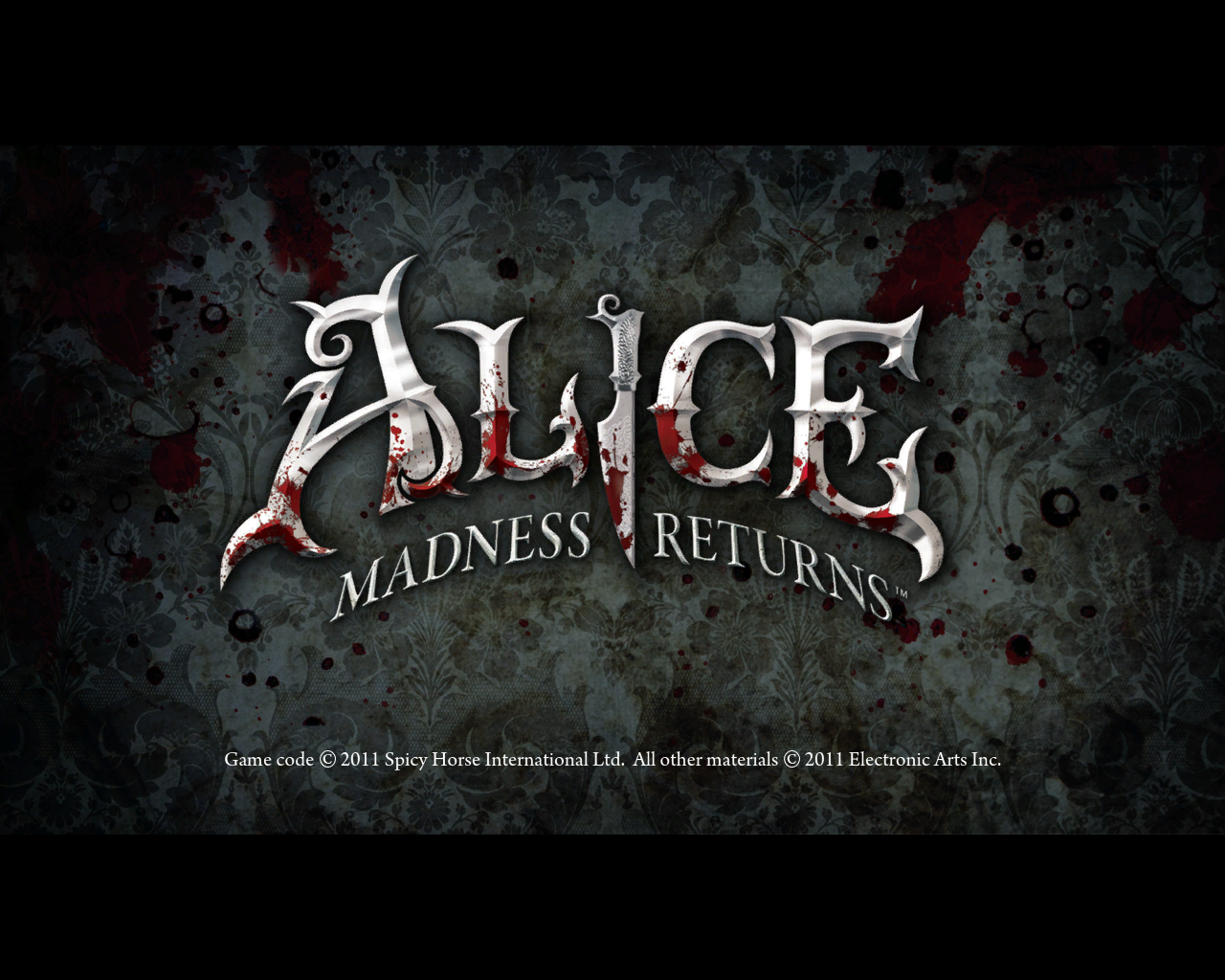 Alice: Madness Returns Windows Title screen
