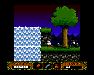 The Fantastic Adventures of Dizzy Amiga Water fall. (AGA)