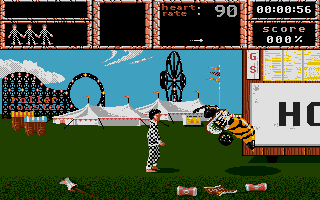 Weird Dreams Atari ST Like with anything that moves, you should not come too close to the giant bee.