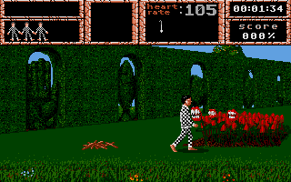 Weird Dreams Atari ST Even the flowers attack you.