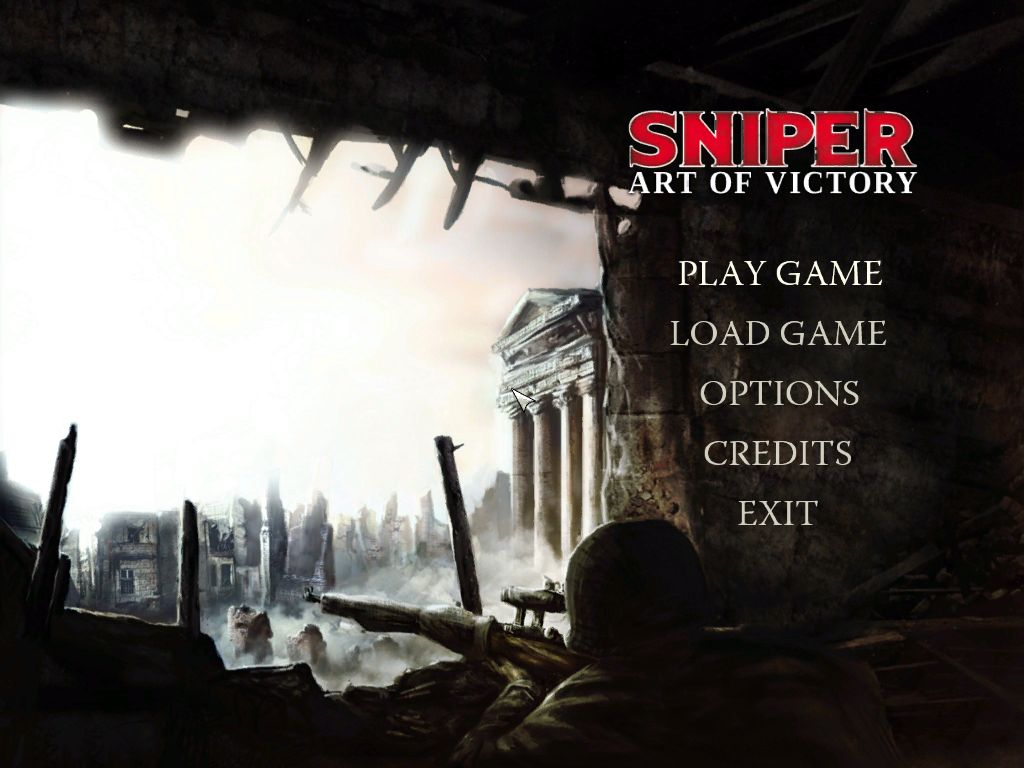 Sniper: Art of Victory Windows The main menu screen