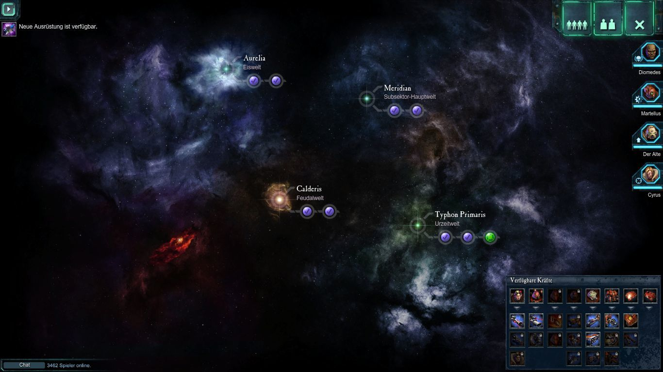 Warhammer 40,000: Dawn of War II - Retribution Windows The star map