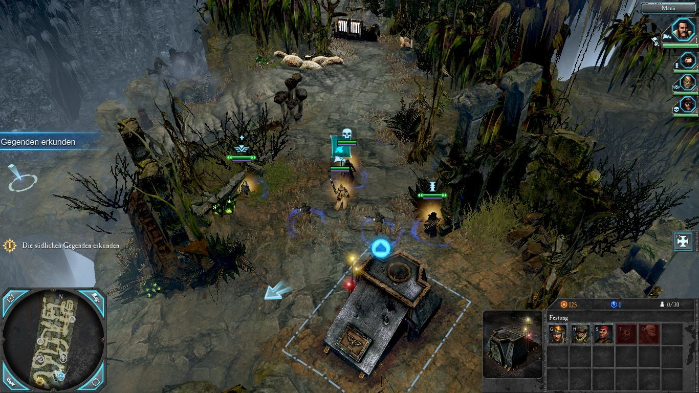 Warhammer 40,000: Dawn of War II - Retribution Windows The start team as well as a garrison building.