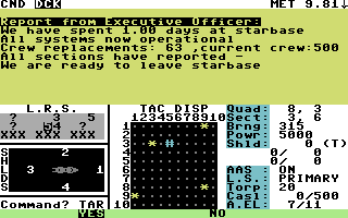 Star Fleet I: The War Begins! Commodore 64 Docking at starbase.