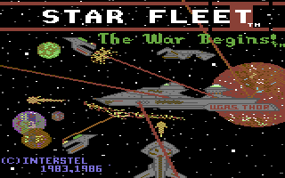 Star Fleet I: The War Begins! Commodore 64 Title screen.