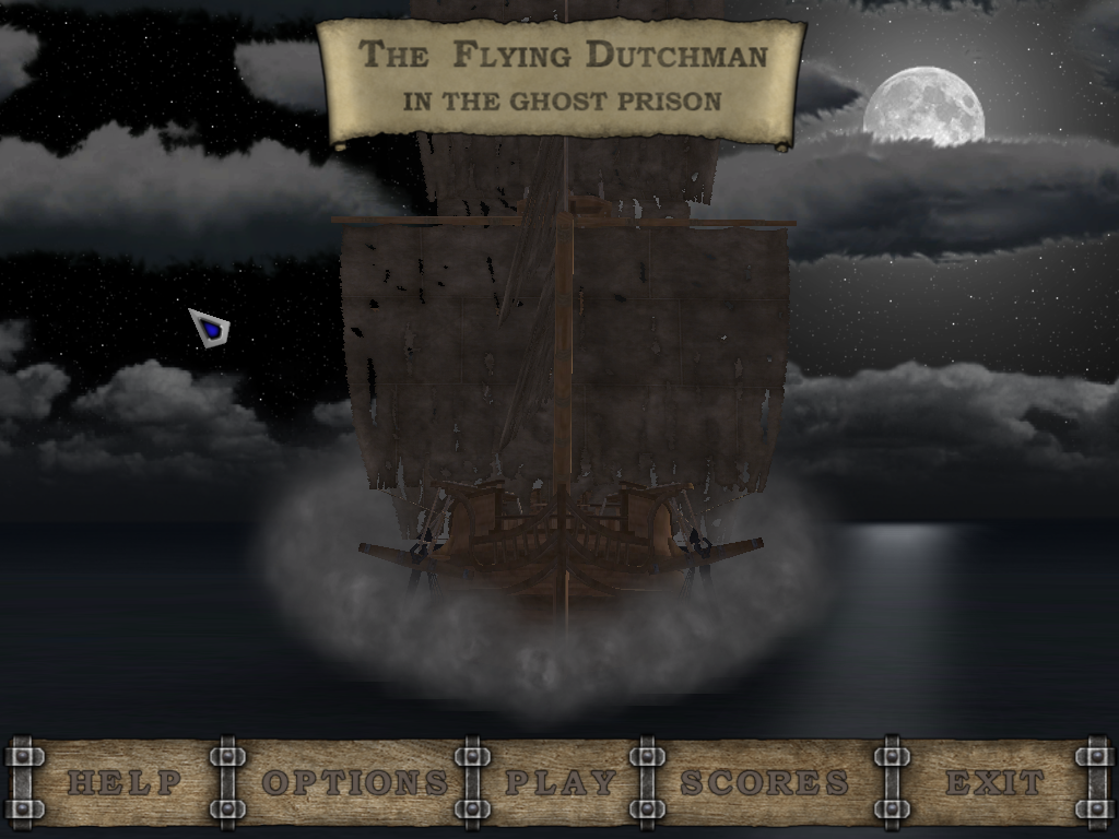 The Flying Dutchman in the Ghost Prison Windows Main menu