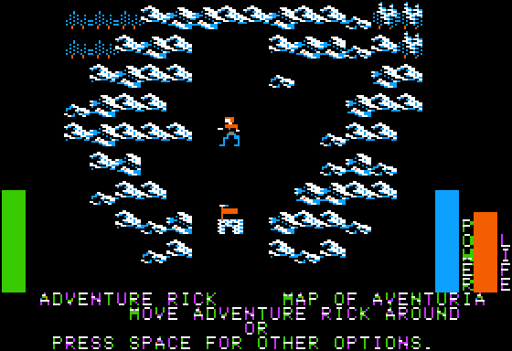 Stuart Smith's Adventure Construction Set Apple II Land of Adventuria - main map.