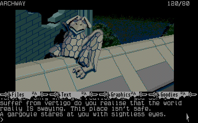 Fish Atari ST I discovered a gargoyle