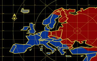 Command & Conquer: Red Alert DOS Map of Europe.