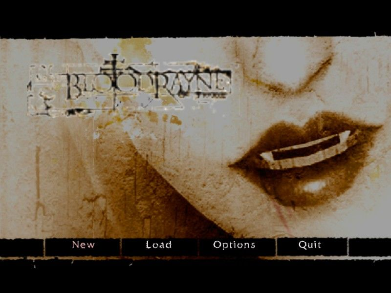 BloodRayne Windows The obligatory main menu shot.