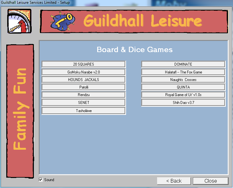 Board & Dice Games For Windows Windows The games available under the World Games menu option